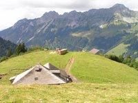 Le chalet de Grand Clé, près de la fenêtre d'Arnon entre l'Etivaz et Arnensee