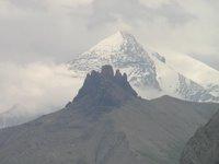 Vue sur le Tschingelhortighorn (devant) et le Balmhorn (derrière)