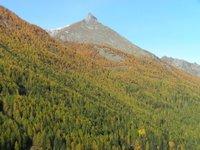 Vue depuis la terrasse de l'hôtel Mont Blanc