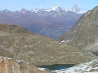 Depuis le Col des Laures, les 4000 de la frontière italo-suisse