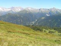 Depuis le Egger Joch, vue sur le Brenner