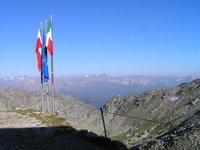 Devant la Landshuter Europahütte, vue panoramique sur le Nordtirol