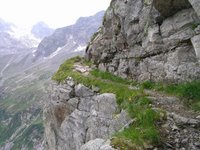 En descendant de la Lapenscharte vers la Kasseler Hütte