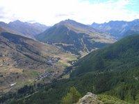 Depuis Sommet Bucher, le Queyras. A gauche la vallée de Fontgillarde. A droite la vallée de St Véran
