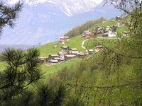 Gspon, village perdu dans la montagne, un déjeuner gargantuesque à l'hôtel Alpenblick