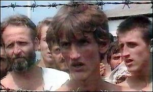 Bosniak civilian Fikret Alic in Serb-run Concentration Camp Trnopolje