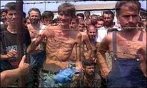 Serb-run Trnopolje Concentration Camp where thousands Bosniak civilians perished