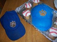 blue baseball cap cakes