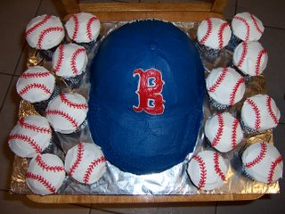 Boston Red Sox cap cake