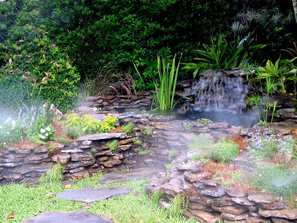 From the pondlady 39 s pad search results for how to build a for Building a fountain pond