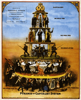 as the powerful and rich get obscenely richer half or america is in a collective stockholm syndrome scenario -- you can buy this poster at iww.org/en/store/collectables