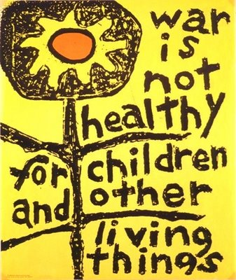 vintage collectible WAR IS NOT HEALTHY for children and other living things peace art signs shirts posters jewelry pendants earrings