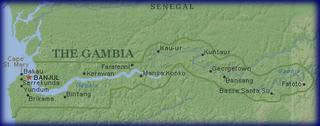 Gambia-mapa