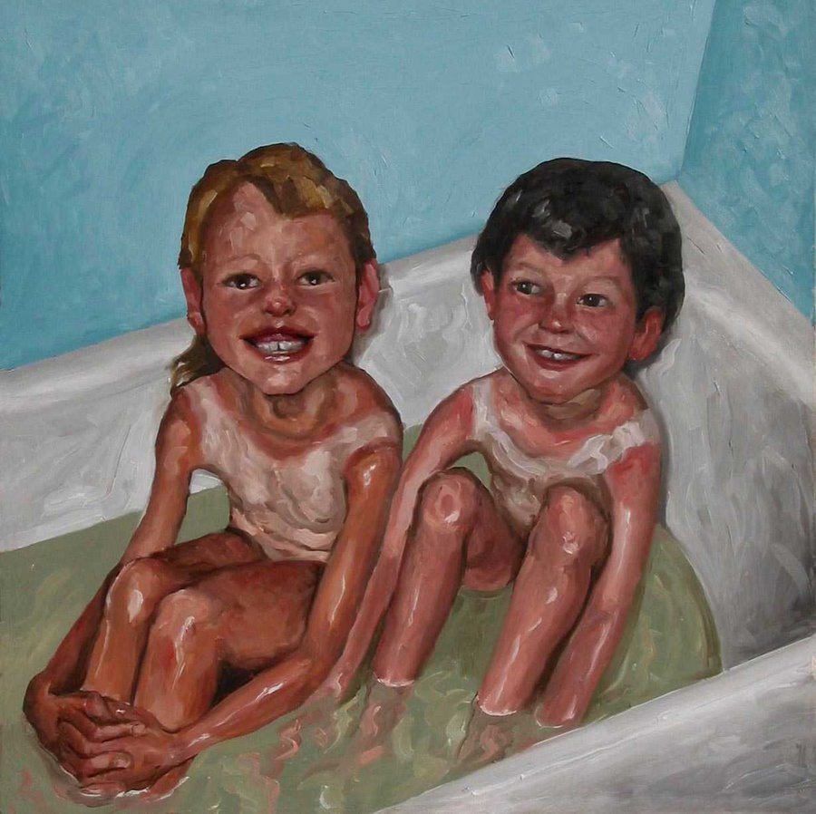 SON OF THE FOREST: Sunburned Children in the Bath ( my sisters )