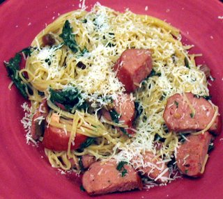 ARF: Swiss Chard &#038; Kielbasa Pasta