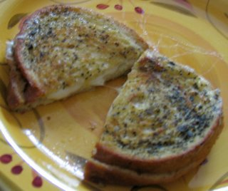 The Aforementioned Lunch: Grilled Mozzarella Sandwiches