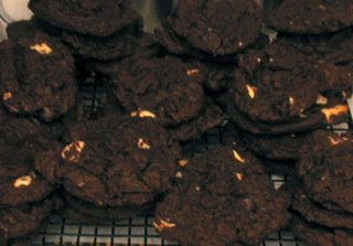 Triple Chocolate Chunk Chocolate Cookies