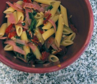 The Next Level: Sundried Tomato Pasta with Prosciutto