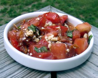 ARF: Blue Tomato Salad with Basil Vinaigrette
