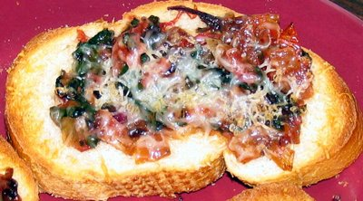 Beet Greens Bruschetta