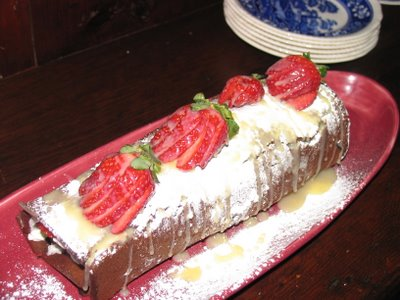 Chocolate Roulade with White Chocolate Drizzle