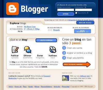 1. Ir a www.blogger.com para crear tu cuenta
