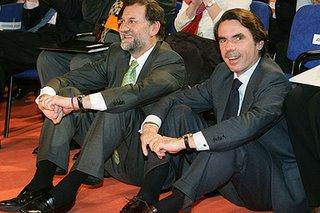 El líder del Partido Popular, Mariano Rajoy y su