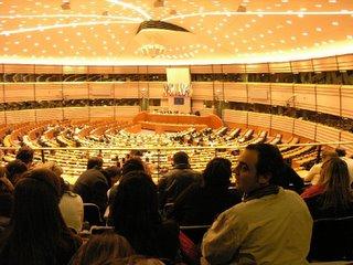 Vista del Parlamento Europeo. Menudas vistas