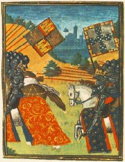 D. Joao I Perseguindo o Rei de Castela em Aljubarrota