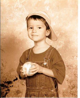 Jake Baseball Sepia Pic