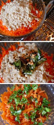 Carrot Salad tossed with peanuts