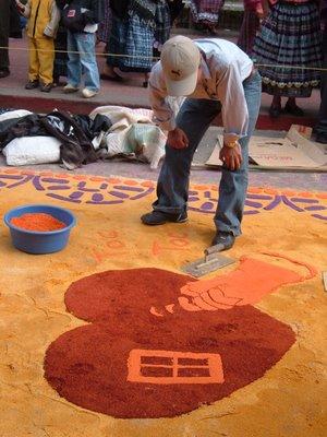 Cubanitasoy las alfombras de semana santa for Que son las alfombras