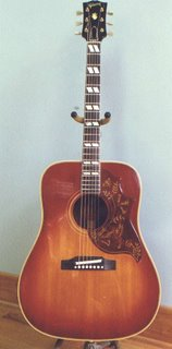 1960 gibson hummingbird acoustic flat top