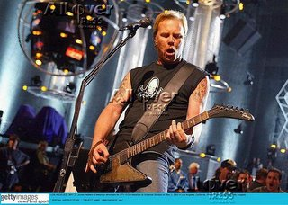 James Hetfield playing on a 1976 gibson explorer