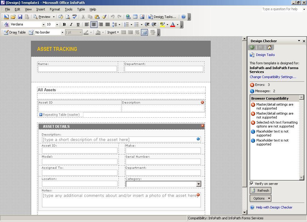 infopath templates