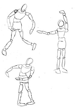 how to draw anime manikin