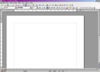 OpenOffice Writer的畫面