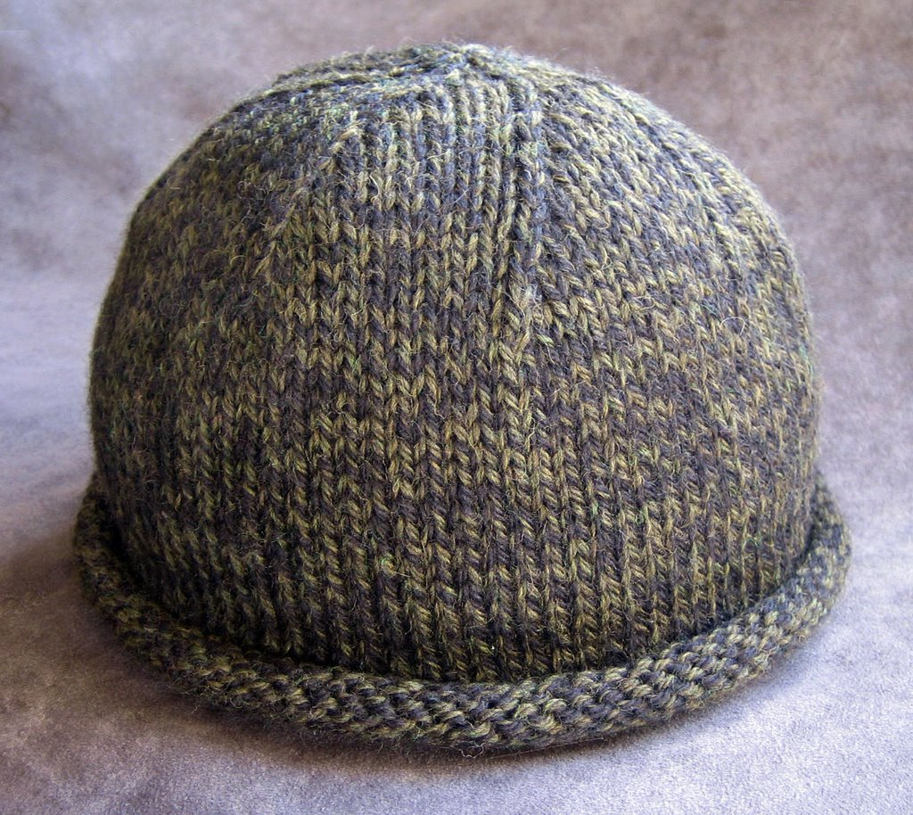 Knit Hat Pattern Free Brim : Bleu Arts: Knit Pattern: The Rolled Brim Boyfriend Hat