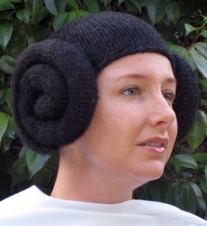 princess leia knit hat