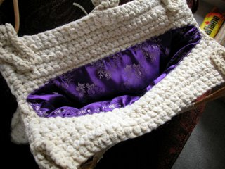 Suede purse by The Crochet Dude(tm) - inside
