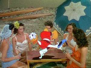 Donald and Mexican women on beach