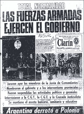 Clarin 25th March 1976