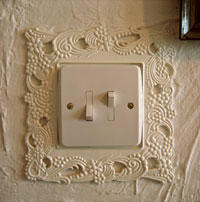 Martin Parr photo of lightswitch
