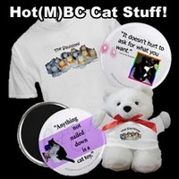 Cat shirts, kitty magnets, squillions stuff too