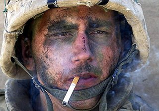 Mmmm. Menthol freshness. There's nothing like a nerve-calming smoke before or after a harrowing firefight.