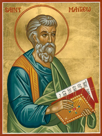 Image result for orthodox Matthew icon
