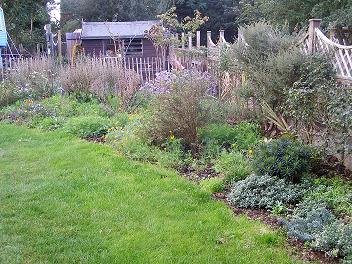 Right-hand herbaceous border in October 2006