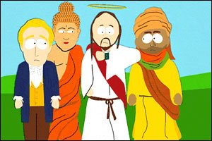 Some of the Super Best Friends: Joseph Smith, Buddha, Jesus and Muhammad