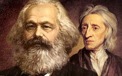 locke vs marx Karl marx and john locke both formulated philosophical theories that worked to convince people of their rights to freedom and power however, they had conflicting viewpoints on the idea of private property locke felt that property belonged to whoever put their labor into it, and one could .