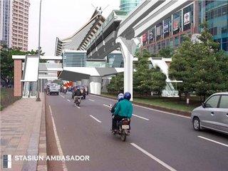Stasiun depan Mall Ambasador